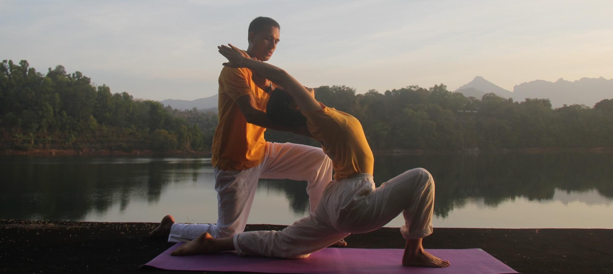Sivananda yoga with fredrik Binette and Rajesh Dayakar